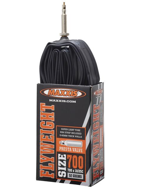 Maxxis Flyweight Cykelslange 700x18/25C Presta sort